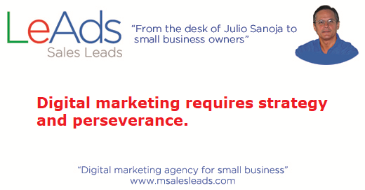 Digital Marketing Requires Strategy
