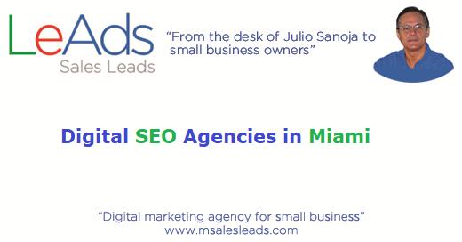 Digital Seo Agencies in Miami