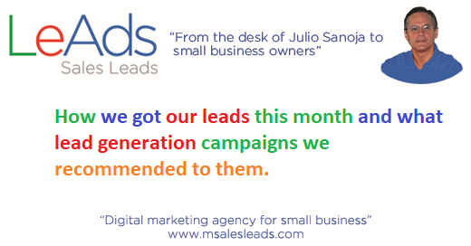 How we got our leads this month