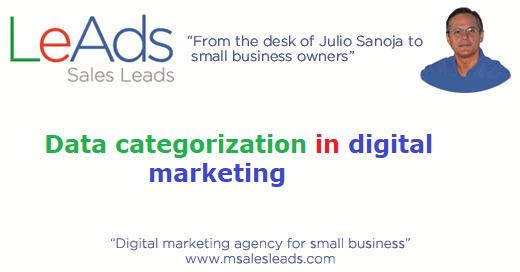 Data Categorization In Digital Marketing