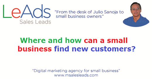 Where and how can a small business find new customers